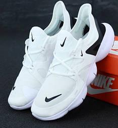 Беговые кроссовки Nike Free Run 2019 белые. Живое фото (Реплика ААА+)