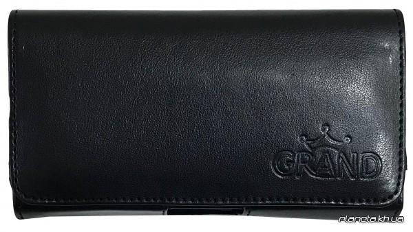 Grand Premium универсальный чехол на пояс до 4''  черный (13 см на 7 см)