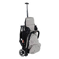 Коляска прогулочная складная пепельно-бежевая Коляска-чемодан JOY для путешествий, для ручнoй клaди