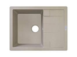 Мийка кухонна прямокутна граніт 65*50 см ADAMANT ANILA Цукру 8702
