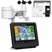 Метеостанция Bresser Weather Center Wi-Fi 5-in-1 Profi Sensor Black
