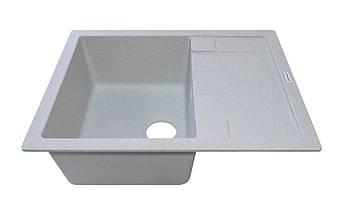 Кухонная мойка ГРАНИТ 65*50 см ADAMANT ANILA светлый серый, фото 2