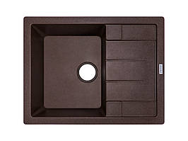 Мийка врізна прямокутна граніт 65*50 см ADAMANT ANILA Коричневий 8705