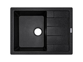 Мийка гранітна прямокутна 65*50 см ADAMANT ANILA Чорний 8703