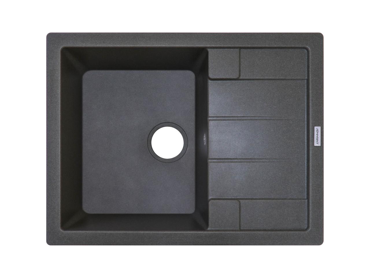 Кухонная мойка ГРАНИТ 65*50 см ADAMANT ANILA темный серый