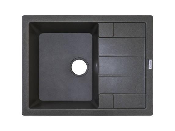 Кухонная мойка ГРАНИТ 65*50 см ADAMANT ANILA темный серый, фото 2