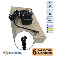 Блок питания 5,5-2,1 mm 5V 1A DC(постоянный ток) класс A новый