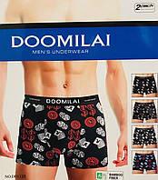 Трусы мужские боксёры хлопок + бамбук DOOMILAI размер XL-4XL(48-54)  01125