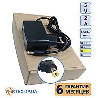 Блок питания  5,5-1.7 mm 5V 2A DC(постоянный ток) P-050B класс A новый