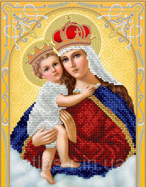 """Схема для вышивки бисером иконы """"Богородица с Младенцем"""""""