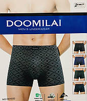 Трусы мужские боксёры хлопок + бамбук DOOMILAI размер XL-4XL(48-54)  01032