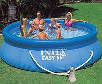 Наливной бассейн семейный Intex  366х76 см. Объем 5621 л +насос-фильтр (220-240v)