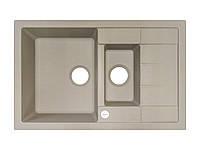 Кухонная мойка 2 х секционная гранитная 78*50*20 см ADAMANT ANILA PLUS (САХАРА)