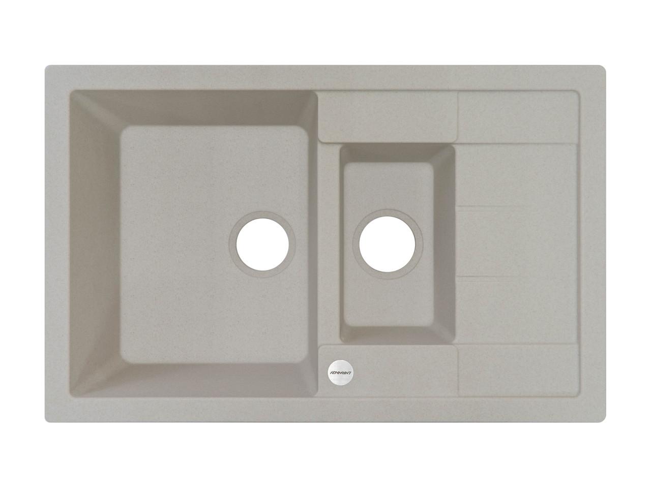 Кухонная мойка на 2 отделения гранитная 78*50*20 см ADAMANT ANILA PLUS (АВЕНА)