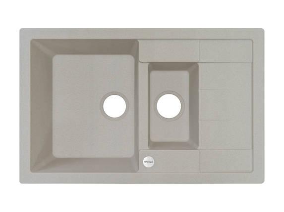 Кухонная мойка на 2 отделения гранитная 78*50*20 см ADAMANT ANILA PLUS (АВЕНА) , фото 2