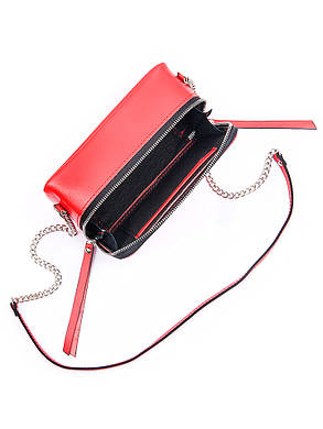 Клатч кожаный красный 7086-11, фото 2