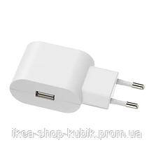 ИКЕА КОПЛА USB-зарядное устройство 1 порт, белый