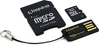 Карта памяти Kingston microSDHC 8 GB Class 10 (+ SD adapter + USB reader)