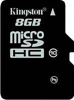 Карта памяти Kingston microSDHC 8 GB Class 10 no adapter