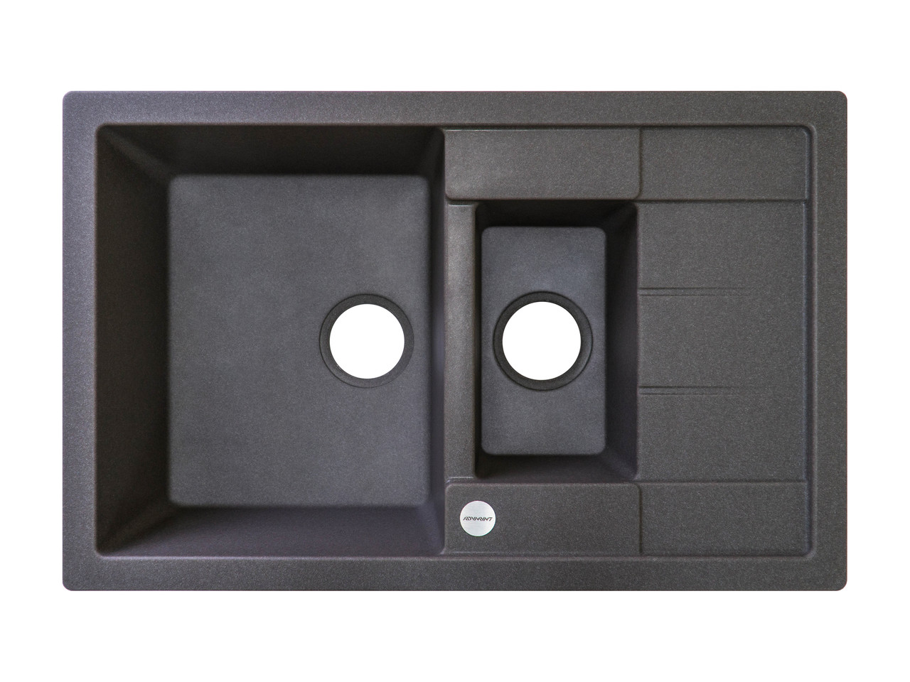 Черная гранитная мойка для кухни гранитная  78*50*20 см ADAMANT ANILA PLUS (темный серый)