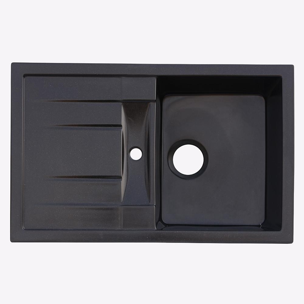 Мойка гранитная Platinum 7850 черная (брак№523)