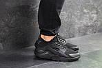 Мужские кроссовки Nike Huarache (черные) , фото 2