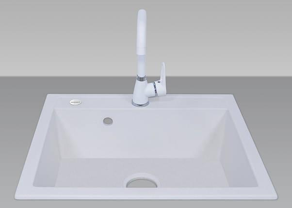 Гранитная мойка для кухни 50*60 см ADAMANT PRIZMA Белый, фото 2