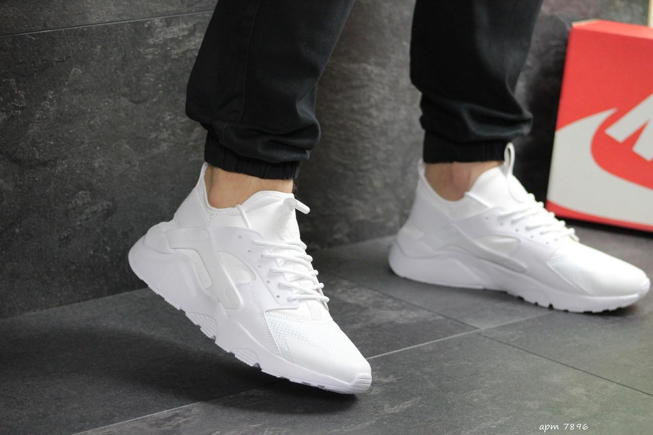 Мужские кроссовки Nike Huarache (белые)