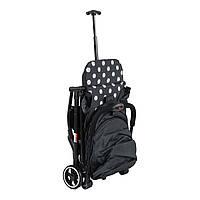 Коляска прогулочная складная черная Коляска-чемодан JOY для путешествий, пoмeщaeтcя в отсек для ручнoй клaди