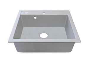 Мойка кухонная серая гранит 59*50 см ADAMANT PRIZMA светлый серый, фото 2