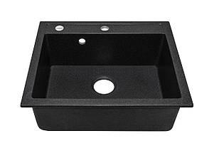 Черная гранитная мойка 59*50 см ADAMANT PRIZMA Черный, фото 2