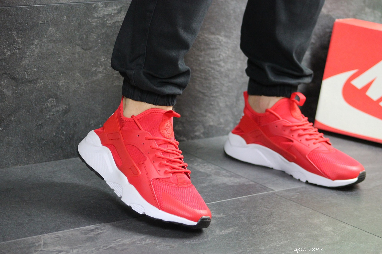 Мужские кроссовки Nike Huarache (красные)