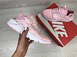 Женские кроссовки Nike Huarache (розовые), фото 3