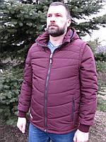 Куртка-жилет 2в1 Napapijri  (replica)  марсаловый (бордо)