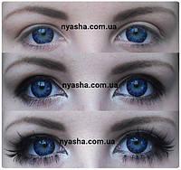 Цветные линзы для зрения с диоптриями. Синие линзы для зрения Ванилла