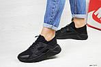 Женские кроссовки Nike Huarache (черные), фото 2