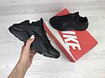 Женские кроссовки Nike Huarache (черные), фото 3