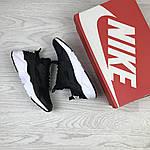 Жіночі кросівки Nike Huarache (чорно-білі), фото 3