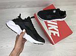Жіночі кросівки Nike Huarache (чорно-білі), фото 4