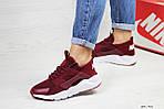 Женские кроссовки Nike Huarache (бордовые), фото 2