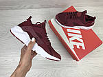 Женские кроссовки Nike Huarache (бордовые), фото 3
