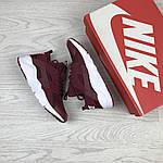 Женские кроссовки Nike Huarache (бордовые), фото 4
