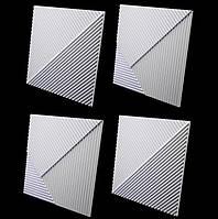Декоративные гипсовые 3D панели «Диагонали»
