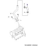 Патрубок вентиляции картерніх газов 1.8L LDA, Лачетти 2007-12 J200, 96414390, GM, фото 4