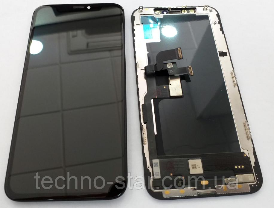 Дисплей (модуль) + тачскрин (сенсор) для Apple iPhone Xs (черный цвет, OLED)