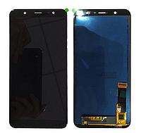 Дисплей (модуль) + тачскрин (сенсор) Samsung Galaxy J8 2018 J810 J810F J810G J810Y черный яркость регулируется
