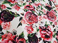 Креп шовк Троянда на світлому фоні