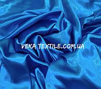 Атлас-стрейч голубая бирюза