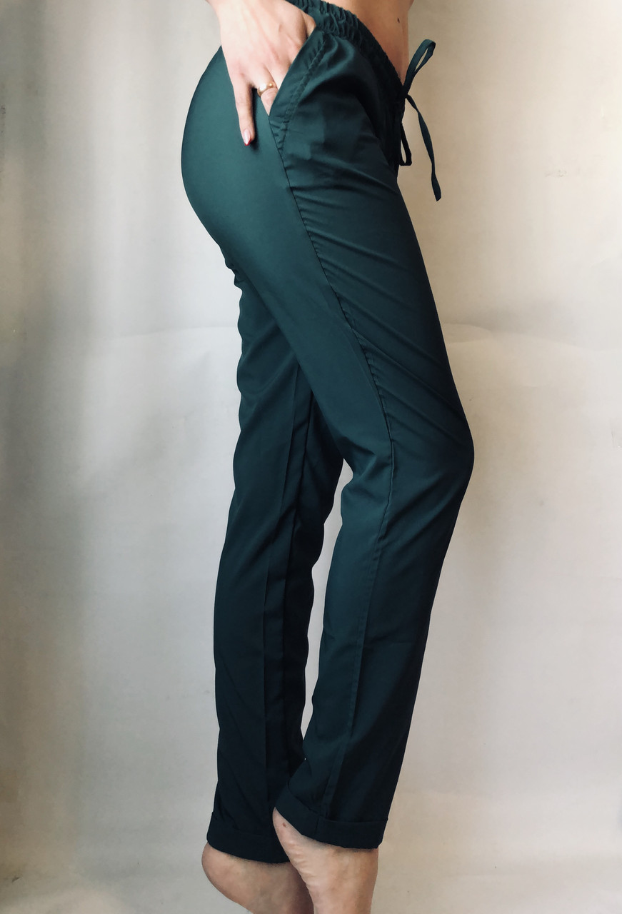 Женские летние штаны 13 зеленые норма