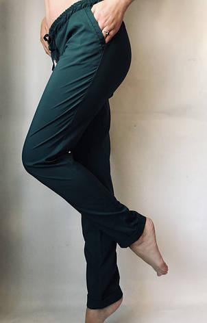 Женские летние штаны 13 зеленые норма, фото 2